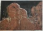 Raven Woman Bronze $495 16x20 Wood Frame