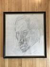 Pencil Face $45-195,18x20,Framed