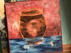 Water Vessel-Fish & Pot $165-650 - 30x30